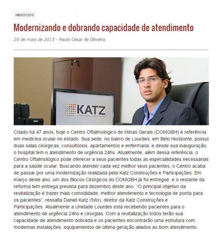 CLIPPING -- KATZ CONSTRUÇÕES EM BH E NOVA LIMA